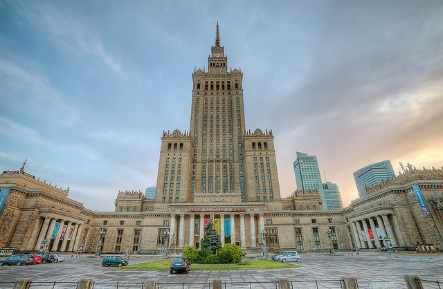 the Palace of Culture and Science