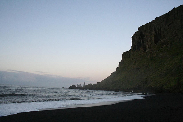 Dark beach in Iceland (1)