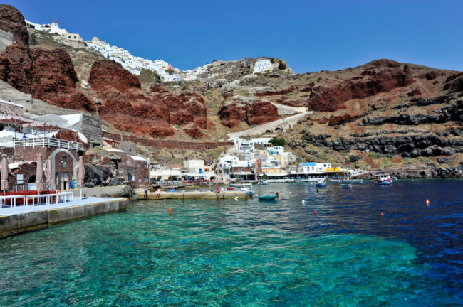 CN6YCK Europe Greece Cyclades Islands Santorini Ammoudi, the port of Oia