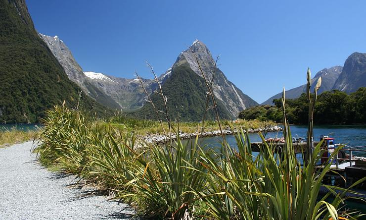 Strait of Milford Sound in New Zealand (1)
